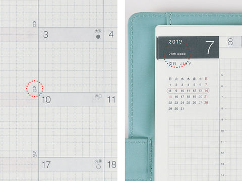 Hobonichi Techo Cousin A5 2019 Week Number