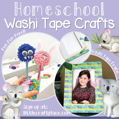Homeschool Washi Tape Craft at Little Craft Place