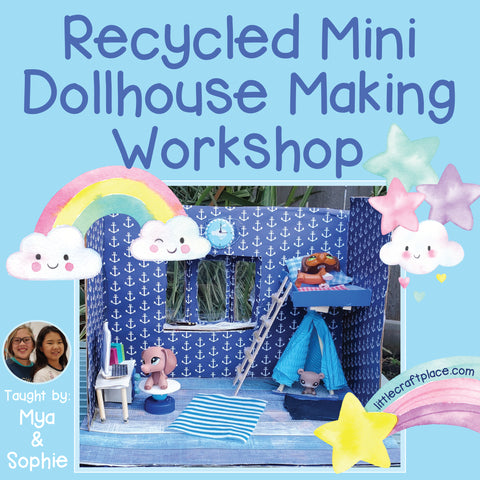 Recycled Mini Dollhouse Making Workshop Little Craft Place