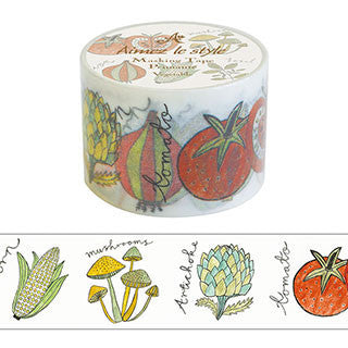 Vegetable Washi Tape Aimez