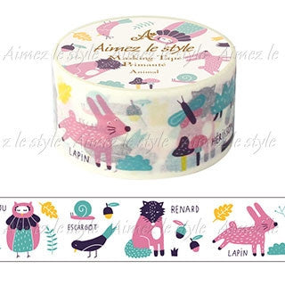 Animal Japanese Washi Tape Aimez