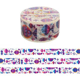 Violet Aqua Japanese Washi Tape • Underwater Decorative Tape Aimez
