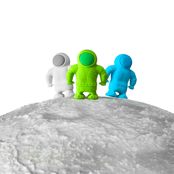 Countdown to blasting your mistakes off into outer space with these far out novelty erasers! These 3 outer space erasers are your adventurer buddies into the mind-opening space of creativity!