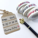 Calendar Washi Tape • Monthly & Daily Washi Tapes