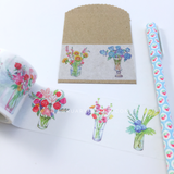 Flower Bouquet Washi Tape