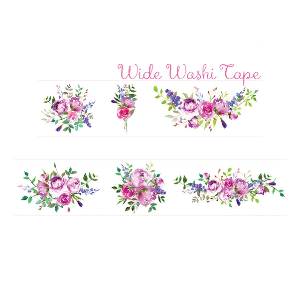 Peony Flower Wide Washi Tape is perfect for all paper projects especially to create journal spread!