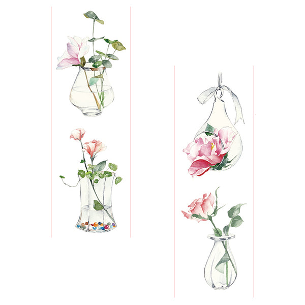 Rose in Vase Washi Tape House plant