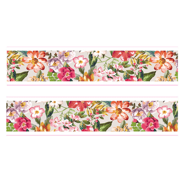 Tropical Botanical Garden Flower Washi Tape