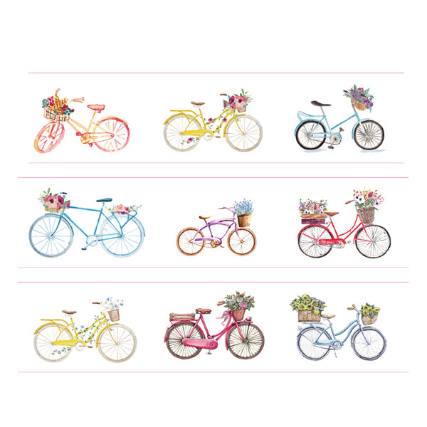 Floral Bicycle Washi Tape
