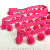 Strawberry Pink Ball Fringe / Pom Pom Fringe. Use these pom pom trim in your planner spread, gift wrapping, advent calendar, hat making, curtains, baby blanket, pillows and all kind of craft projects.