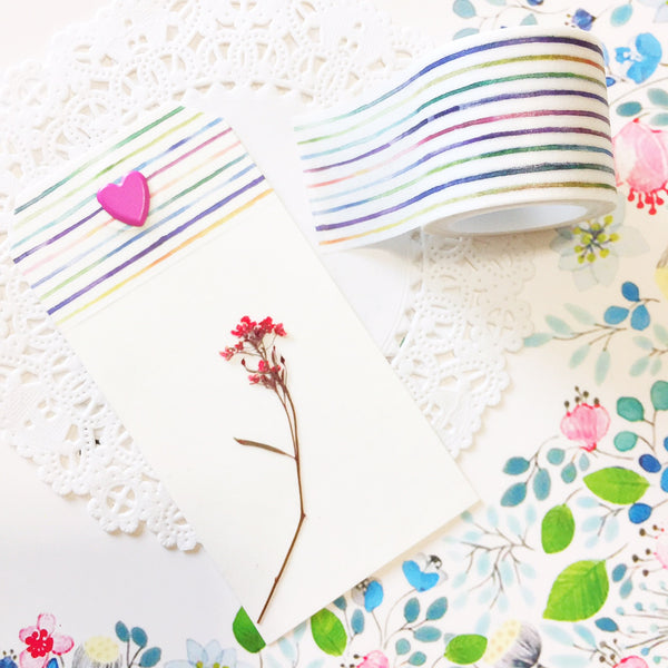 Watercolor Lines Washi Tape