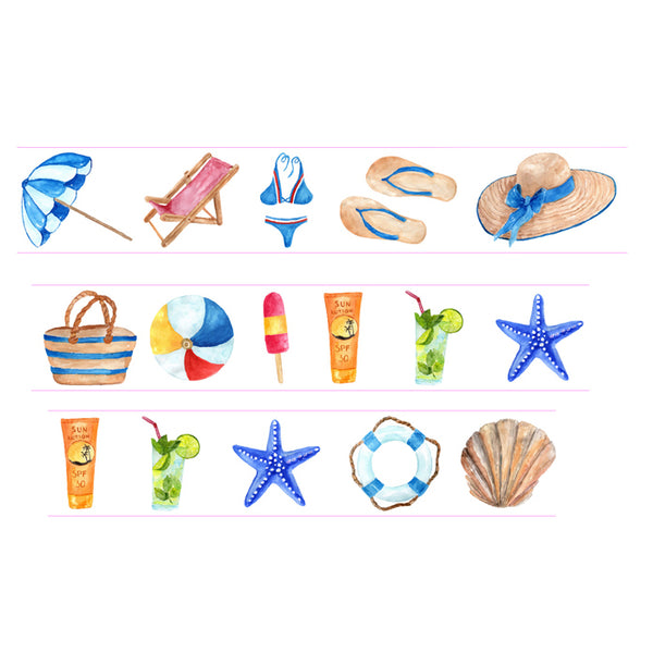 Summer Beach Vacation Washi Tape • Beach Life Washi Tape