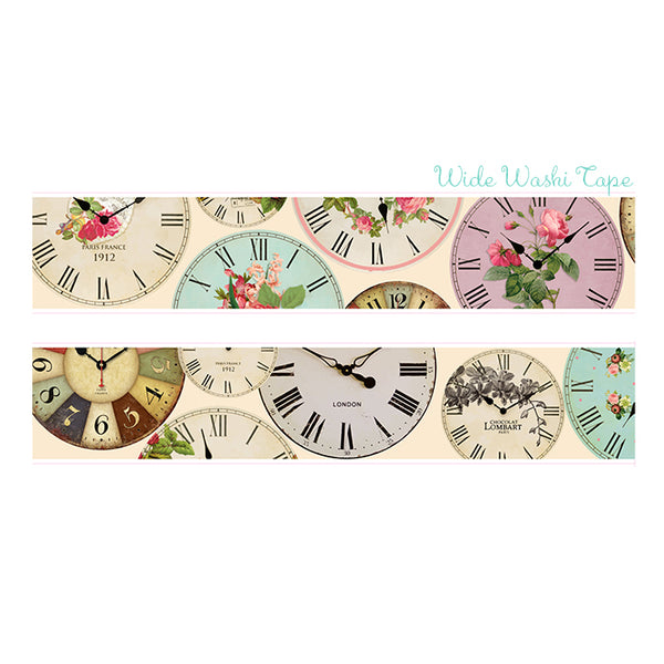 Vintage Clock Washi Tape Antique