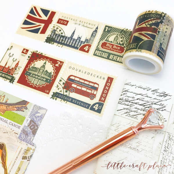 If you love Big Cities and travelling, this washi tape collection is for you. Featuring illustrative patterns of London's Buses Double Decker and the iconic Big Ben, this selection is a must have for those wanderlust crafters and planners!