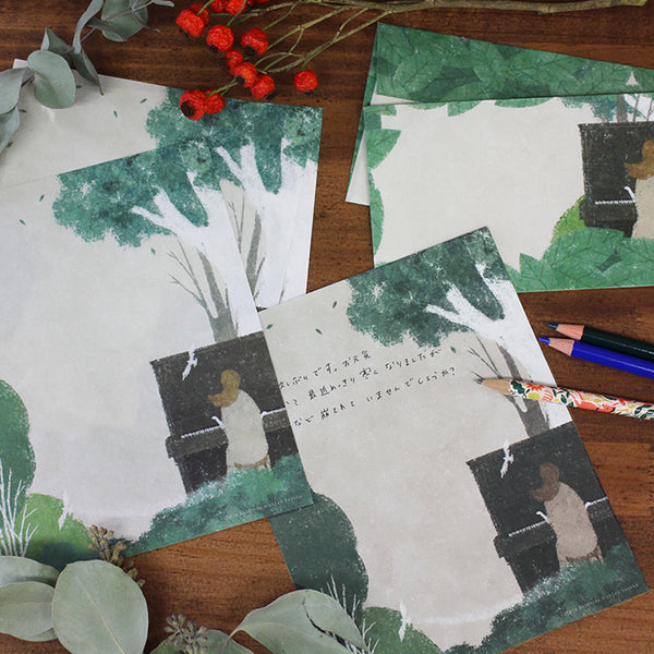 Musical Forest Letter Set Writing Papers & Envelopes from Illustrator kusaka akira