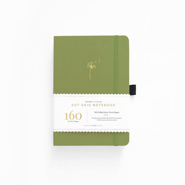 A5 Dandelion Dreams Dot Grid Notebook