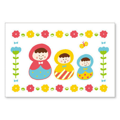 Mizutama Russian Doll Post Card