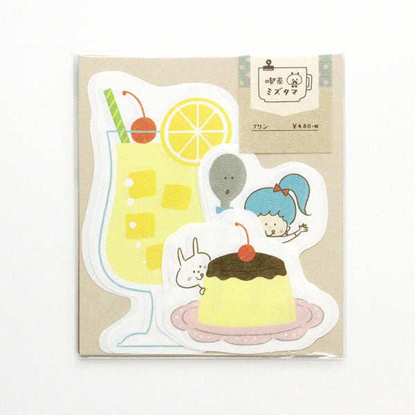 Cafe Letter Set Mizutama (Lemonade, pudding and girl)
