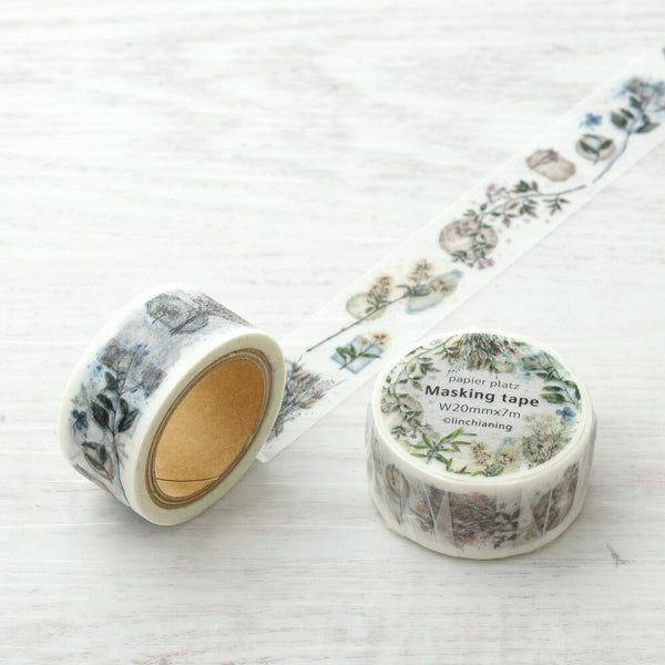 LINCHIANING Vintage Flower Washi Tape