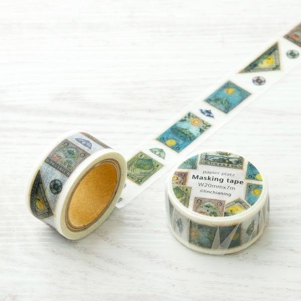 Antique Postage Stamp Washi Tape linchianing