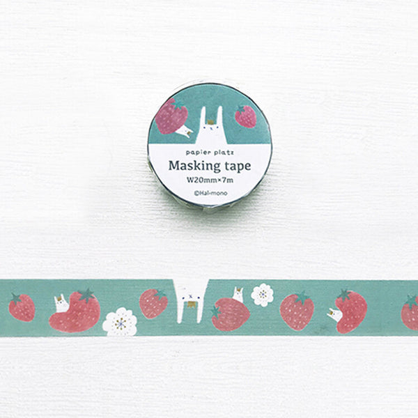 Hal Bunny & Strawberry Washi Tape • Japanese Masking Tape