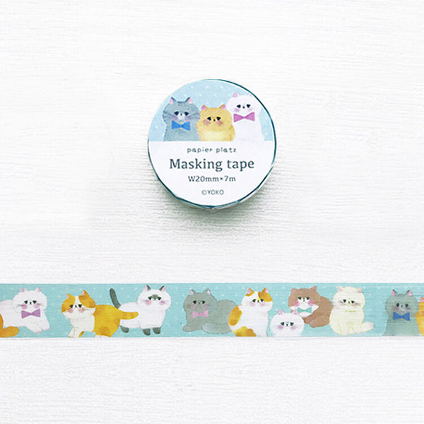 Yoko Neko Cat Washi Tape • Japanese Masking Tape