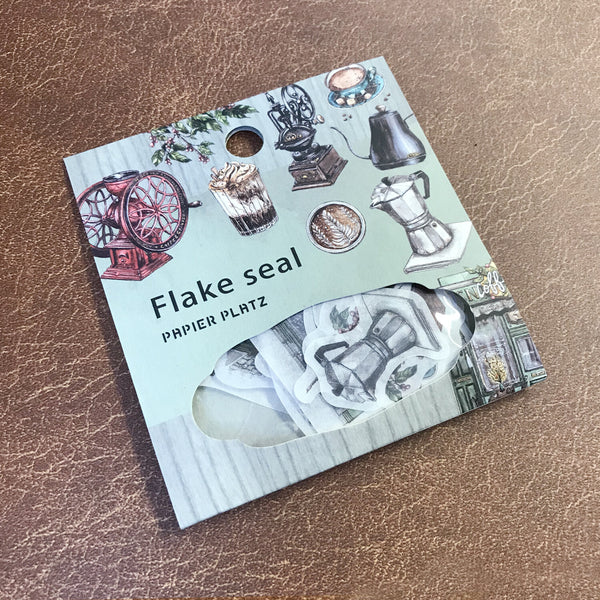 Vintage Coffee Shop Flake Sticker Papier Platz