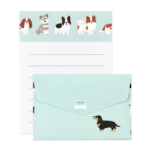 Dog Mini Letter Set Writing Papers & Envelopes