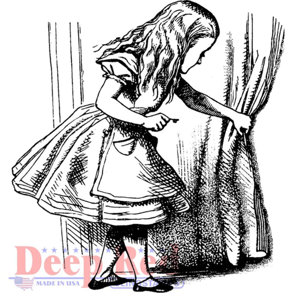 Alice Discovery Rubber Stamp • Alice in Wonderland Cling Stamp