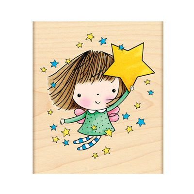 Amongst The Stars Rubber Stamp