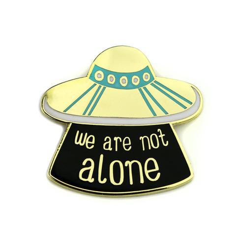 Badge Bomb UFO We Are Not Alone Enamel Pin