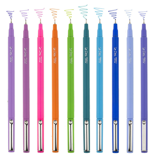 Le Pen Fine Point Bright Set 10/Pkg Uchida
