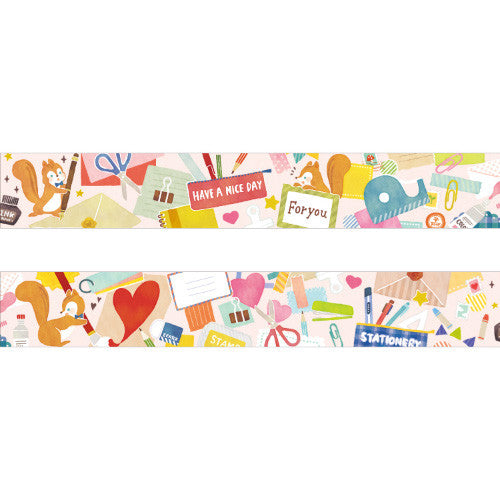 Stationery Chipmunk Moriyue Washi Tape • Japanese Masking Tape