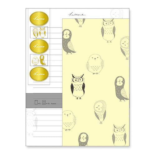 Hello Owl Letter Set Ariste Writing Papers & Envelopes