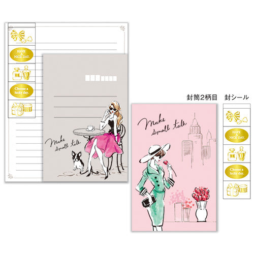Bonjour Make Small Talk Letter Set Writing Papers & Envelopes