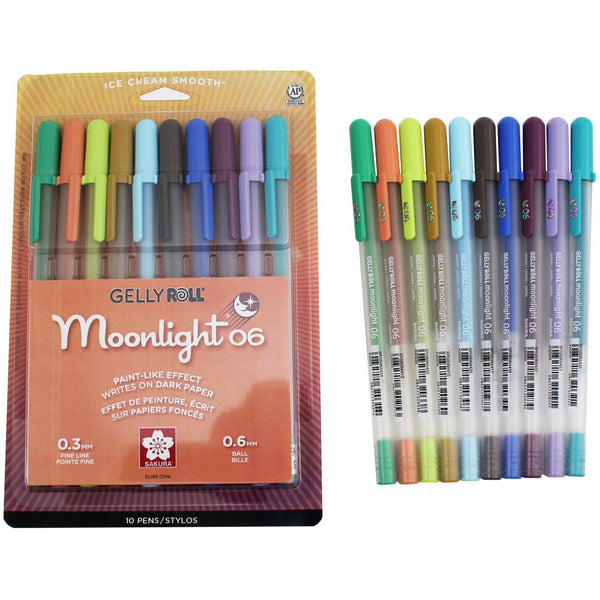 Gelly Roll 2020 New Colors Moonlight Fine Point Pens 10/Pkg