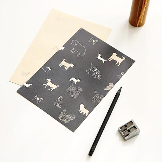 Daily Dog Letter Set Writing Papers & Envelopes