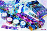 Cosmic Make A Wish Star Washi Tape Set Galaxy Washi Tape Sentiments Phrases