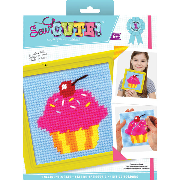 Cupcake Sew Cute! Needlepoint Kit