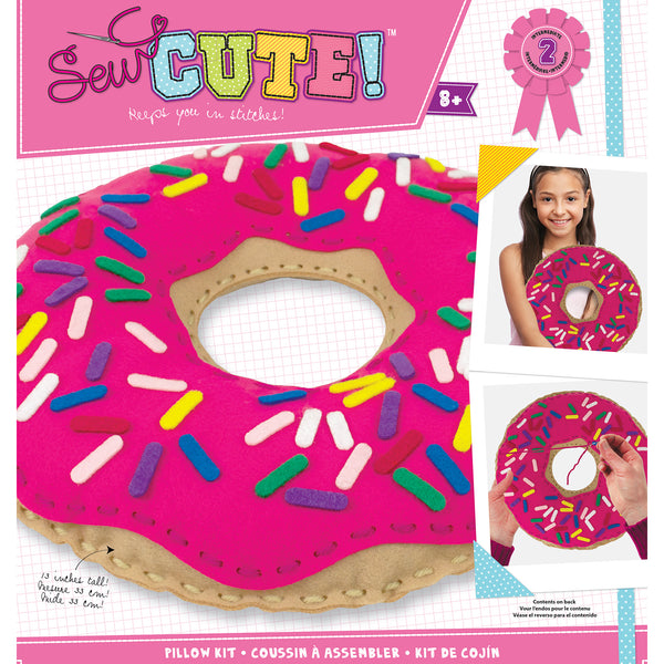 Doughnut Sew Cute! Felt Pillow Kit Donut