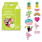 Juicy Swanky Tropical Flake Sticker (50 pieces) Mind Wave Favorite Seal