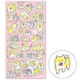 Exciting Shiba Inu Mind Wave Seals Sticker
