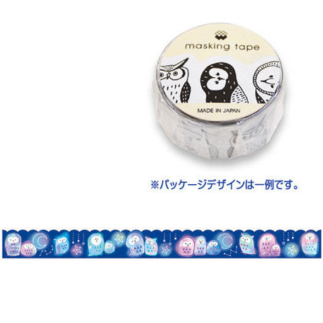 Crescent Story Owl Washi Tape