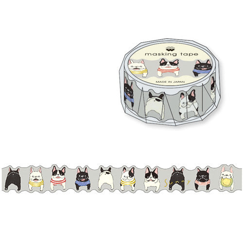 Sunny French Bulldog Mind Wave Die Cut Masking Tape