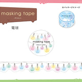 Light Bulb Die Cut Japanese Washi Tape Mind Wave