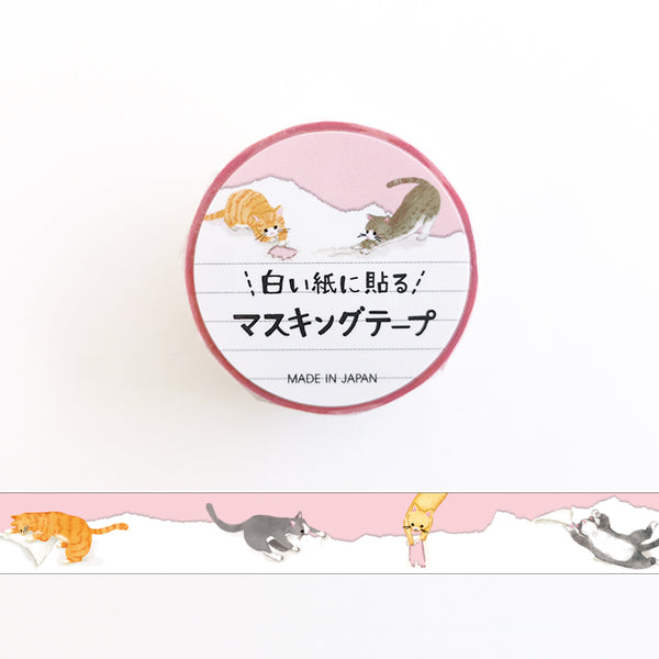 Mind Wave Cat To Paste Washi Tape - Paste it along the edge of white paper, as if animals are playing on the paper, and the universe is spreading under paper.