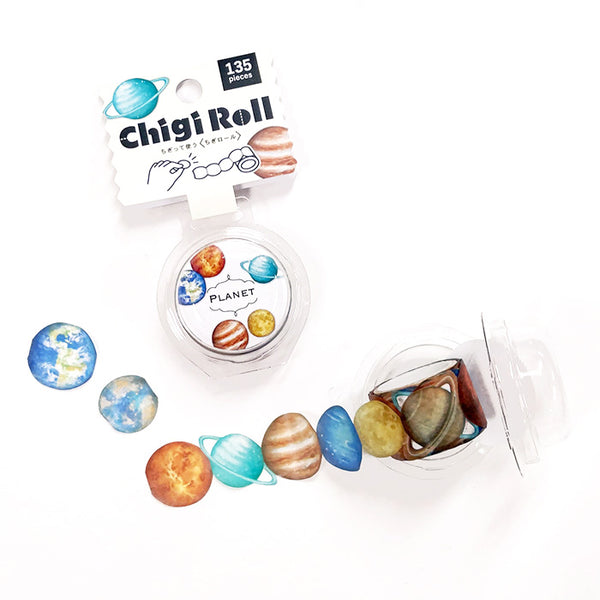 Planet Chigi Roll, 135pcs in a roll, it's perforated making it so easy to share with friends or include a few in the happy mails and swag bags =)