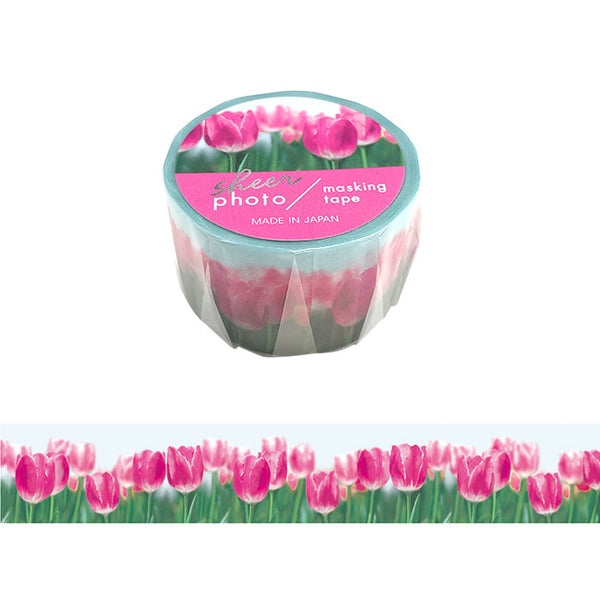 Tulip Field Photo Washi Tape Mind Wave