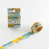 Let's Go! It's so Cool! Round Top Masking Tape • ASAMIDORI Penguin