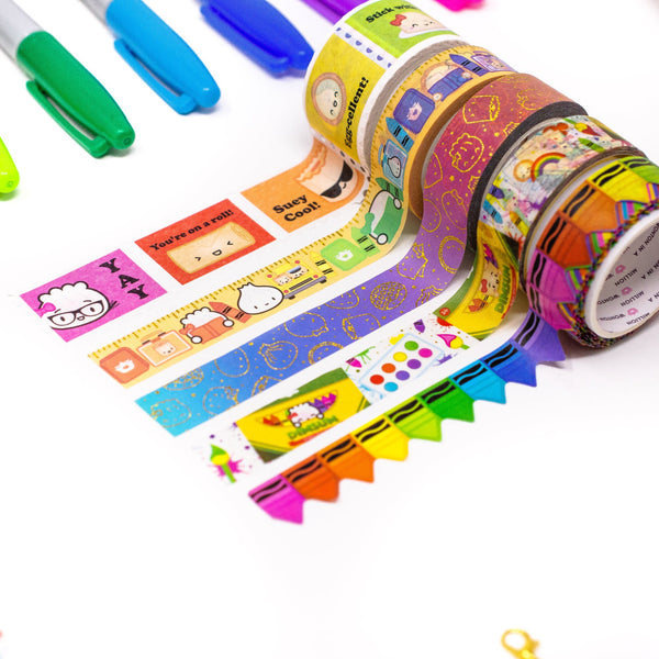 Back To School Washi Collection (Set Of 5) Wonton In A Million